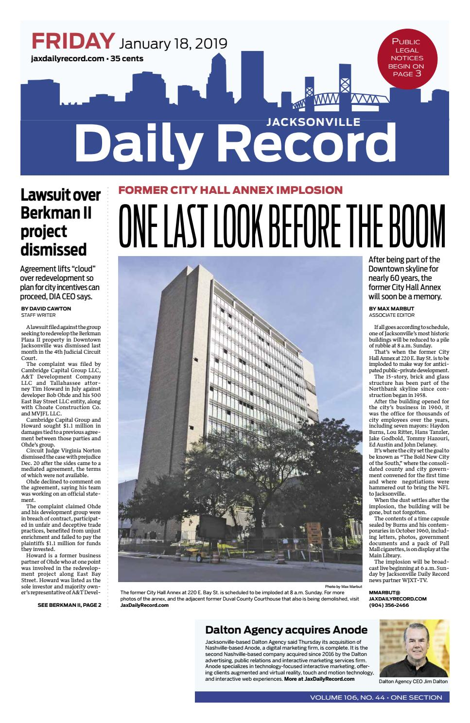 jacksonville daily record 1/18/19daily record & observer llc - issuu
