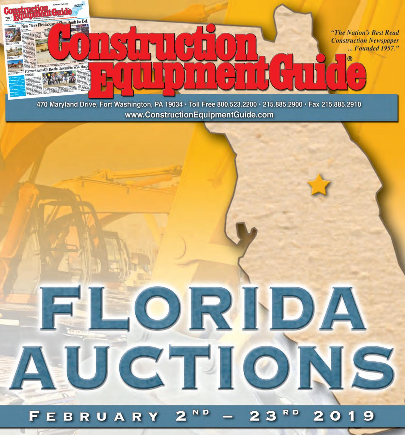Florida Auctions 2019 by Construction Equipment Guide - issuu