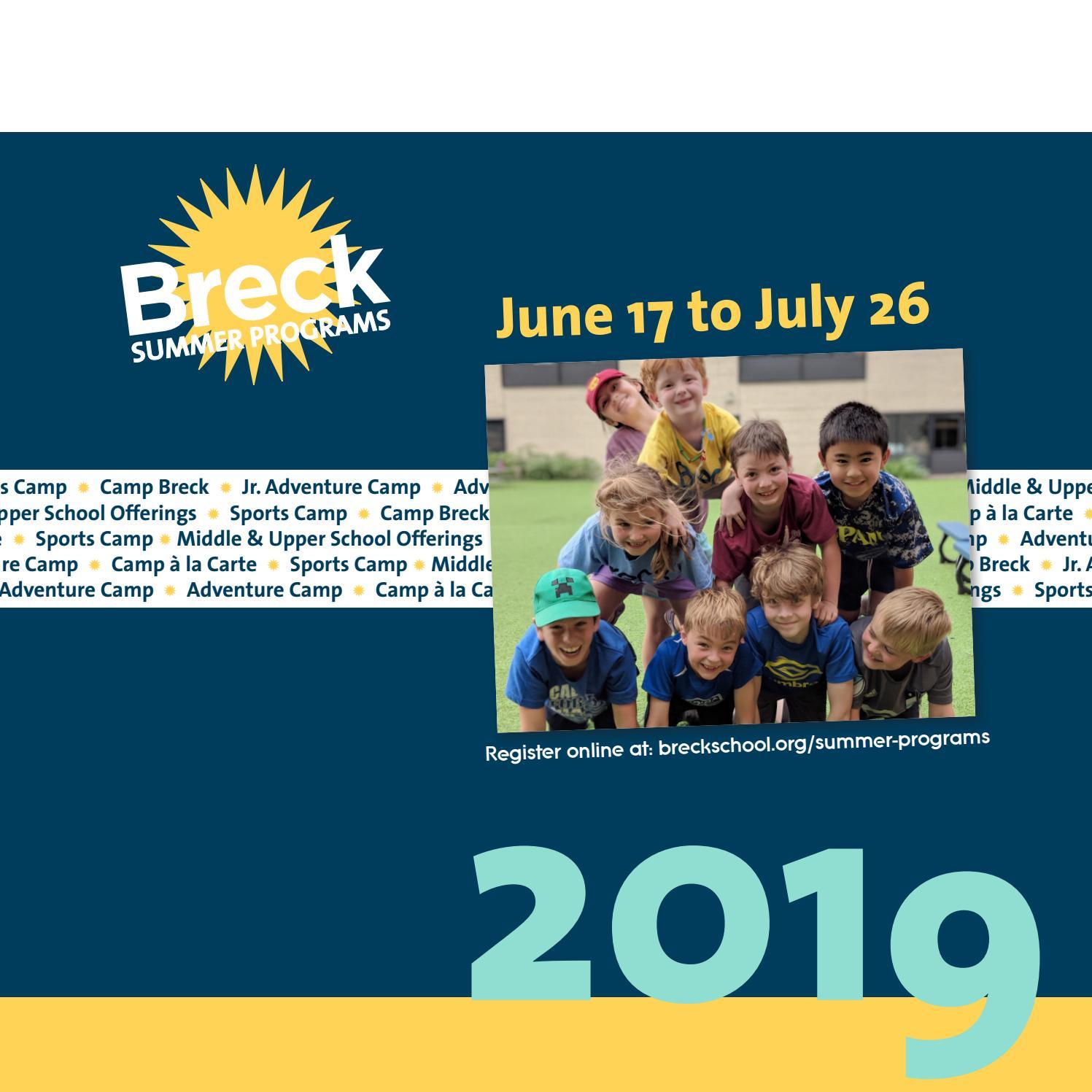 Breck Summer Programs 2019 By Breck School Issuu