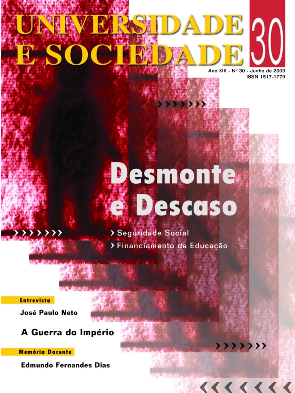 d00e1ed0fd2 Revista Universidade e Sociedade 30 by ANDES-SN - issuu