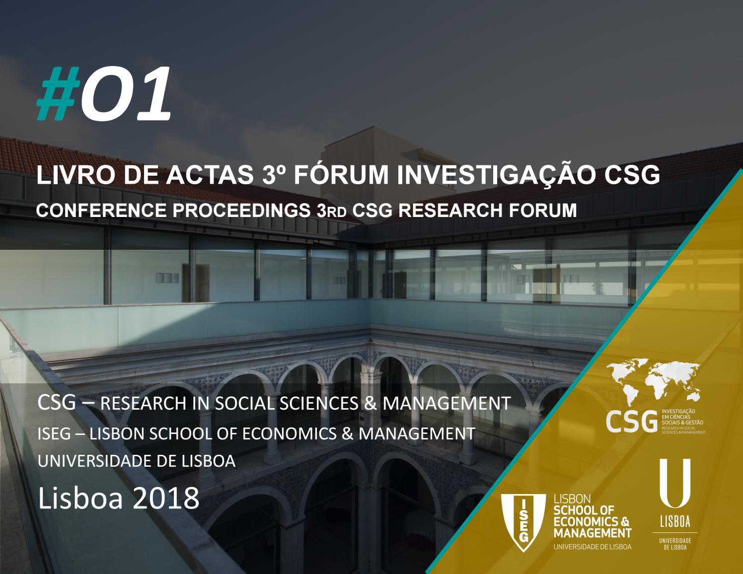 a83da7b84b2 Livro de Actas 3º Fórum CSG by CEsA   ISEG ULisboa - issuu