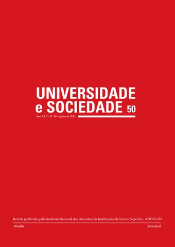 d824fbec4 Revista Universidade e Sociedade 50 by ANDES-SN - issuu