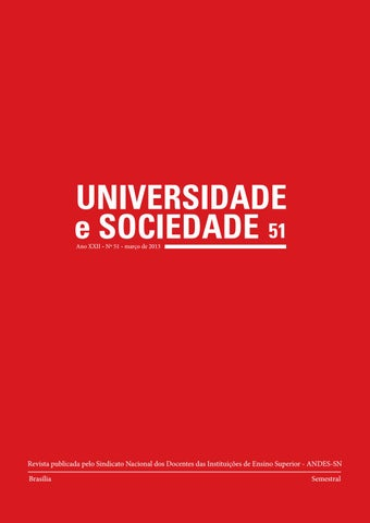 Revista Universidade e Sociedade 51 by ANDES-SN - issuu 5b5e22881d