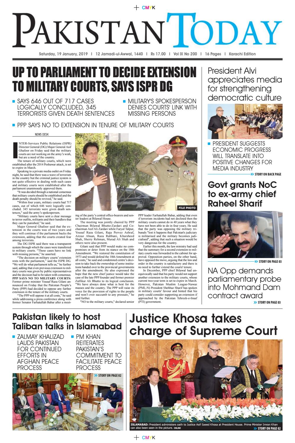 E-Paper PDF 19th January 2019 (KHI) by Pakistan Today - issuu