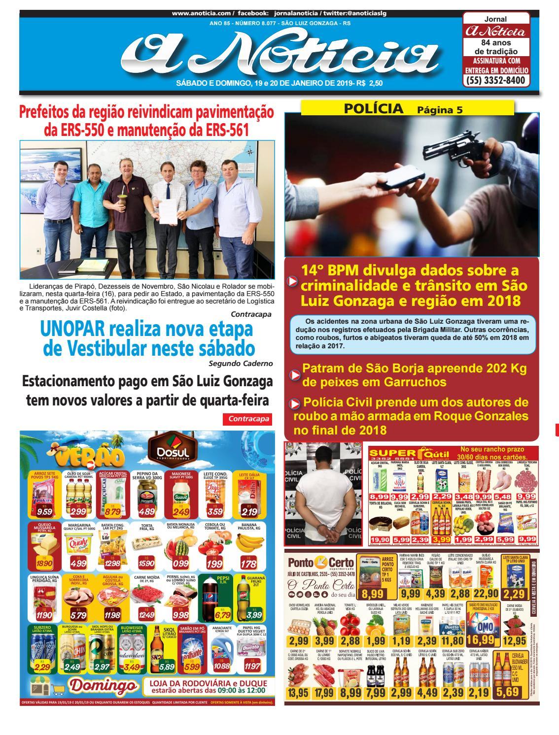 Edição do dia 19 e 20 de janeiro by Jornal A Notícia - issuu b35b42c9af126