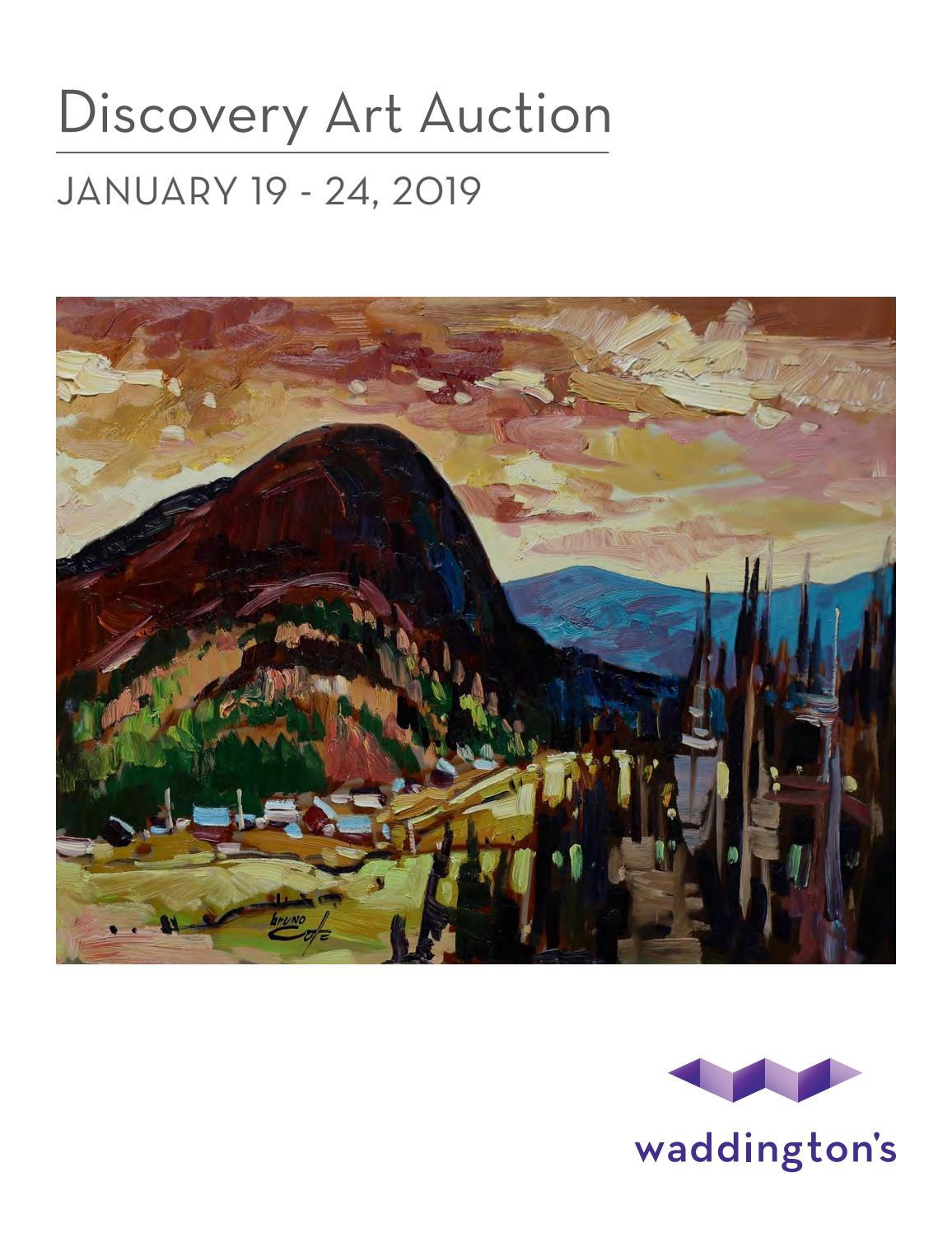 Discovery Art Online Auction Jan 19 24 2019 By Waddingtons Issuu