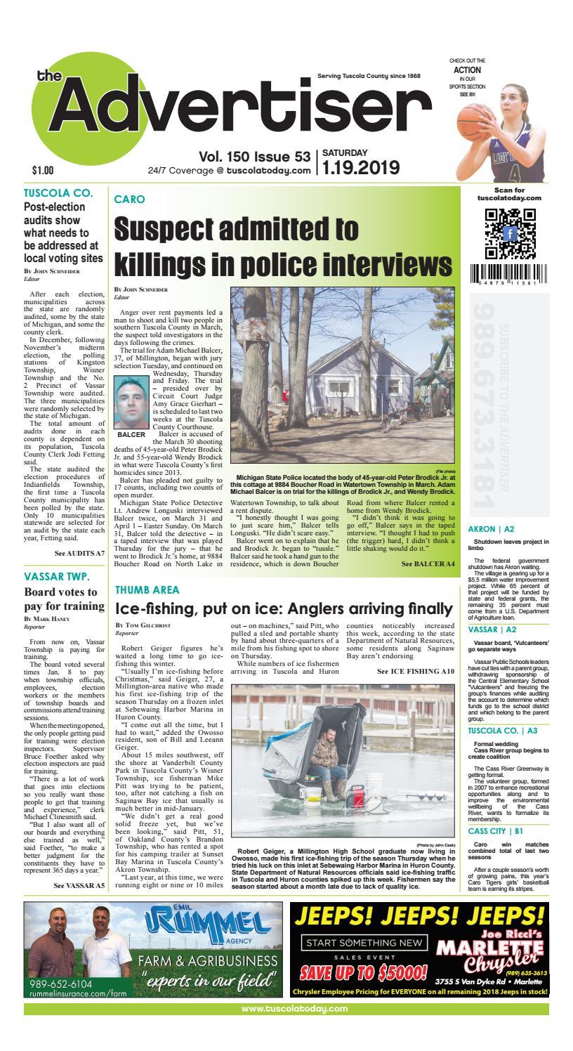 TCA 1-19-19 by Tuscola County Advertiser - issuu