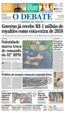 Edição 9726 19-20-21-01-2019 by O DEBATE Diario de Macae - issuu a28f42dfb8