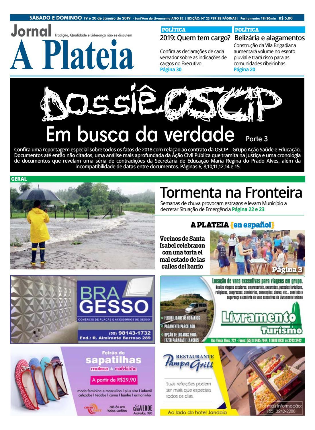 Jornal A Plateia - 19 de Janeiro 2019 by Jornal A Plateia Livramento - issuu 9bff2a3a54fa4