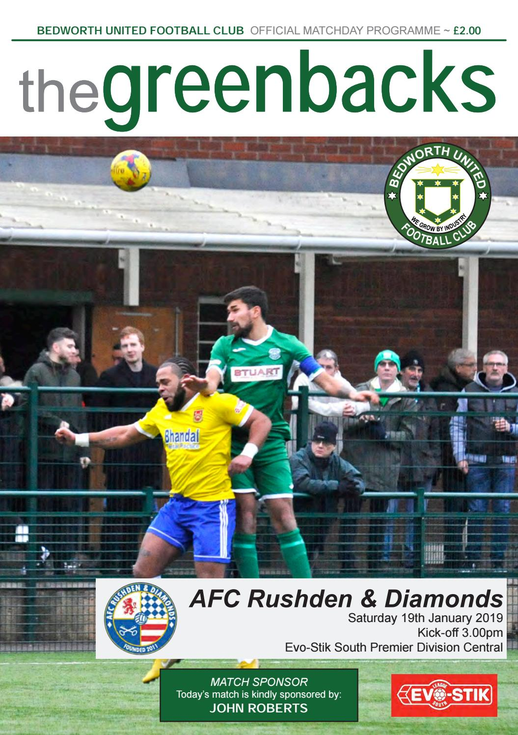 Bedworth United v AFC Rushden And Diamonds by Bedworth