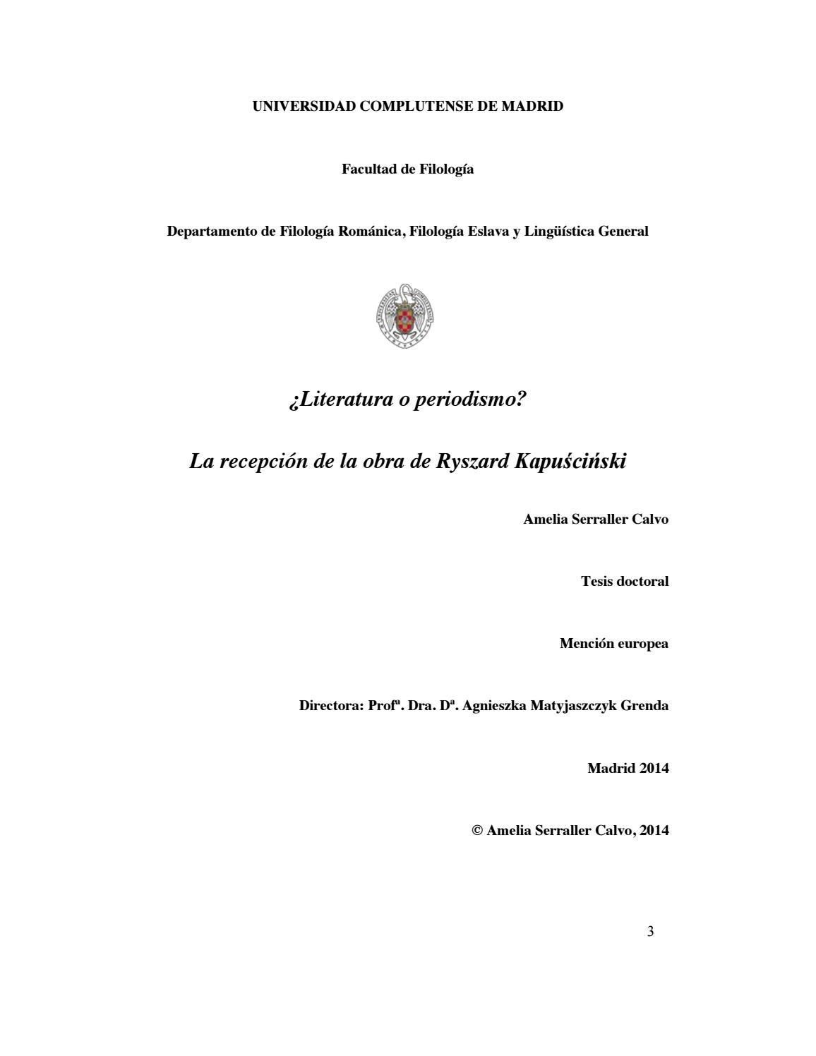Literatura O Periodismo La Recepción De La Obra De Ryzard