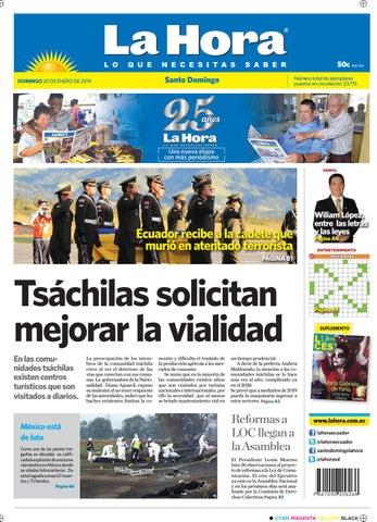 c4948d072e7dd Santo Domingo 20 d enero del 2019 by Diario La Hora Ecuador - issuu