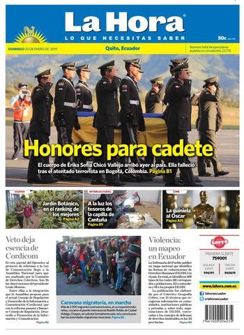 Quito 20 de enero del 2019 by Diario La Hora Ecuador - issuu c288de508c0ea