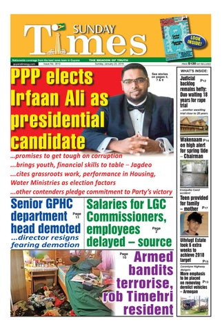Guyana Times - Sunday, January 20, 2019 by Gytimes - issuu