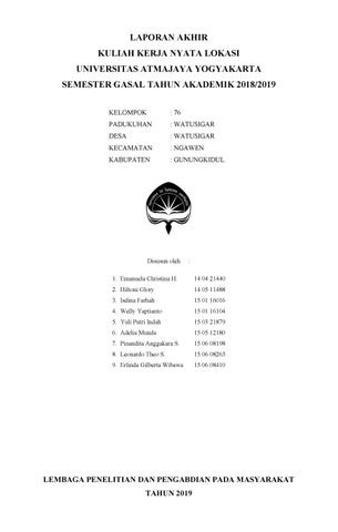 Laporan Akhir Kkn 74 Watusigar By Wellyyaptianto Issuu