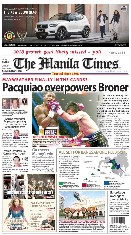 THE MANILA TIMES | JANUARY 21, 2019 by The Manila Times - issuu