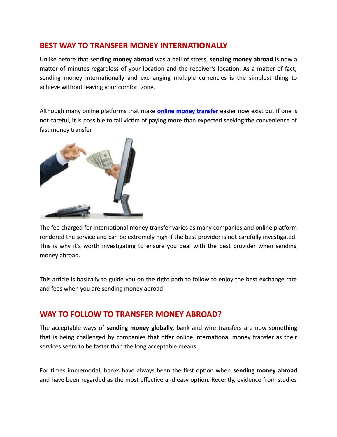 Best Way To Transfer Money Online From Uk By Paysay Issuu