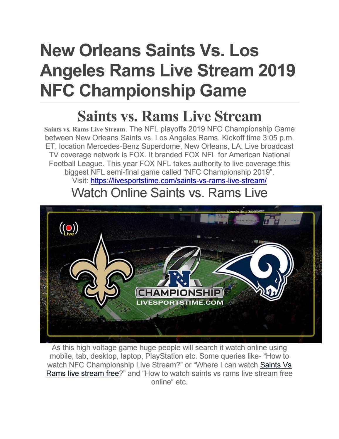 watch saints vs rams online free