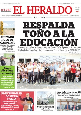 El Heraldo De Tuxpan 21 De Enero De 2019 By Poza Acme Issuu