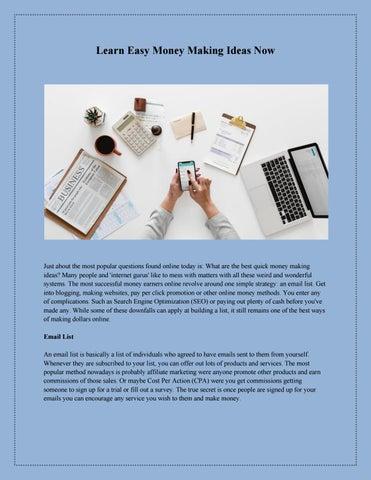 Best of Money Earning Ideas by Jeff James - issuu