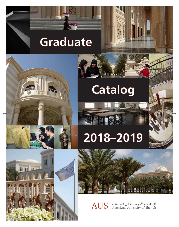 Graduate Catalog By American University Of Sharjah Issuu