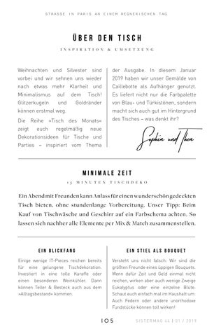 Page 105 of Tischdekoration des Monats – Januar 2019