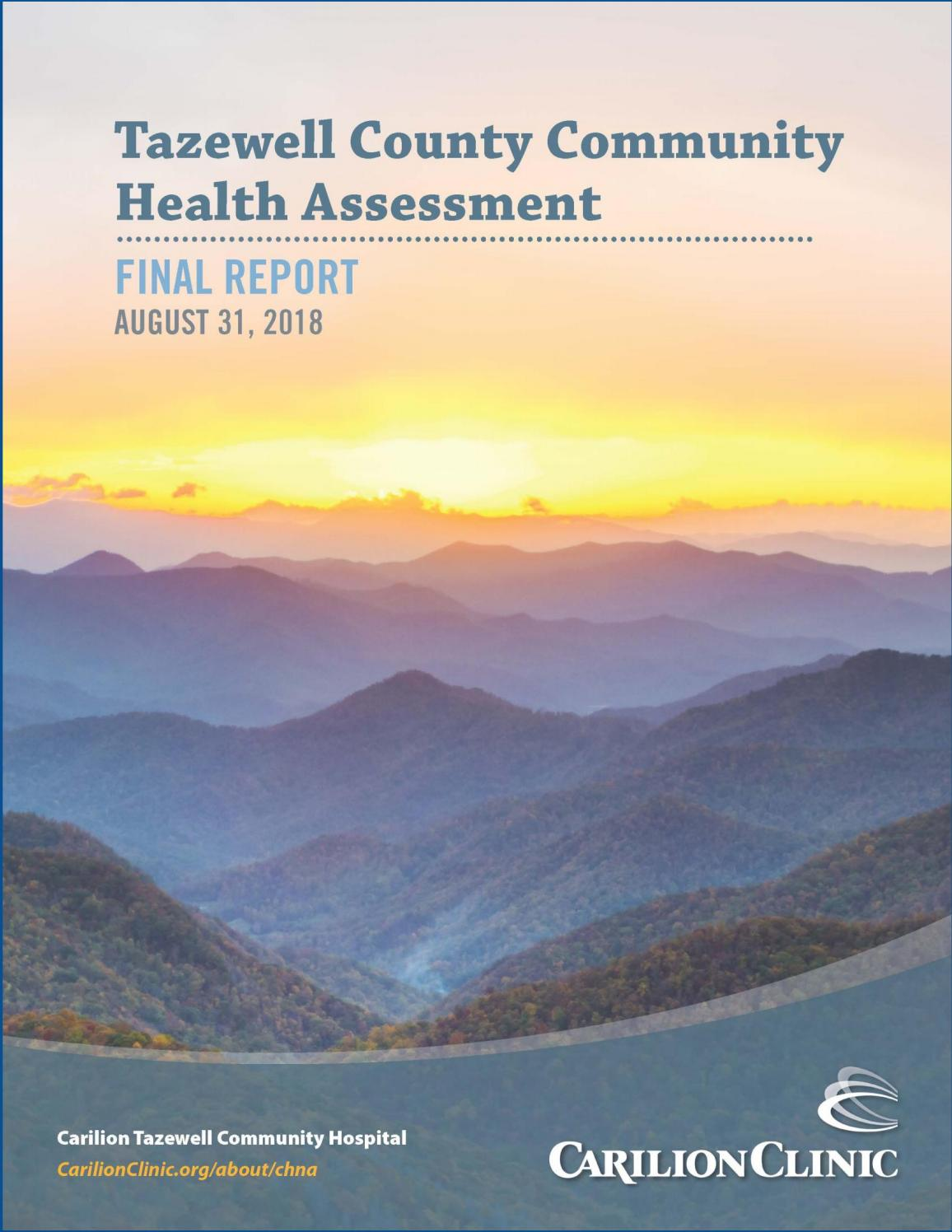 2018 Tazewell County Community Health Assessment Report