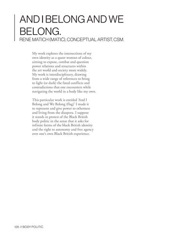 Page 128 of And I Belong and We Belong by Rene Matich
