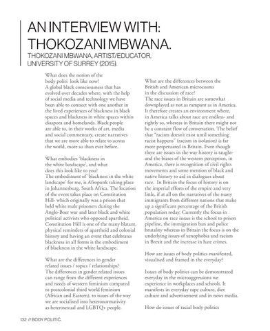 Page 132 of An interview with: Thokozani Mbwana