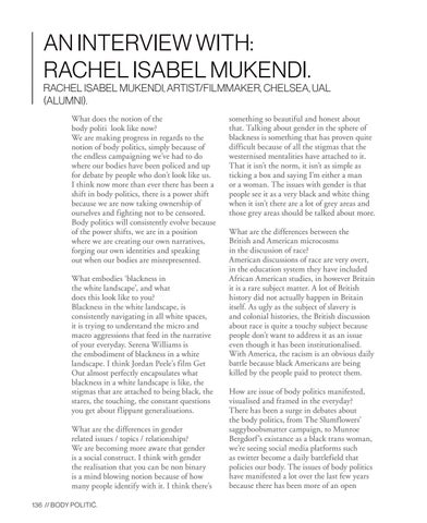Page 136 of An Interview with: Rachel Isabel Mukendi