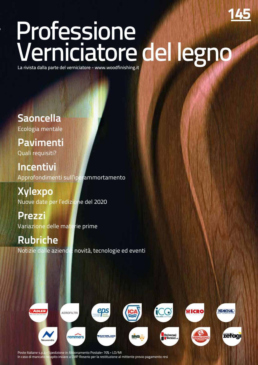 Calendario Taglio Legna 2020.Professione Verniciatore Del Legno 145 Gennaio 2019 By