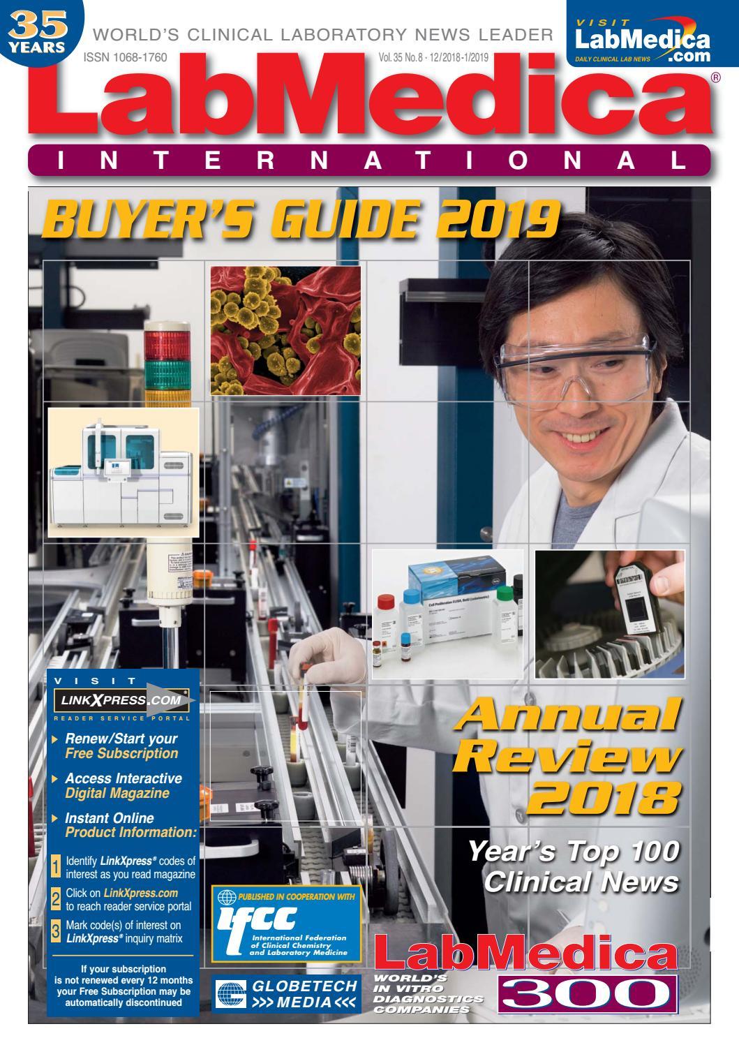 LabMedica International January 2019 by Globetech - issuu