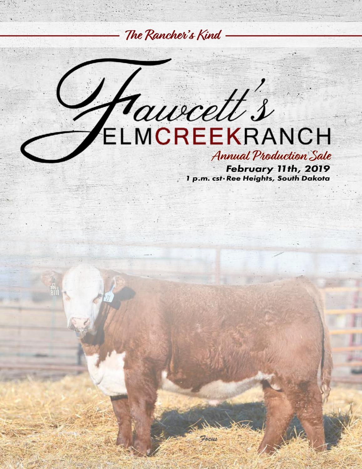 Fawcett's Elm Creek Ranch Annual Production Sale :: 2019 by