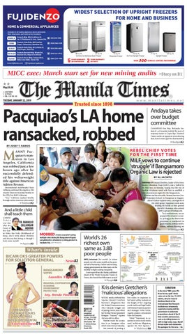 The Manila Times | January 22, 2019 by The Manila Times - issuu