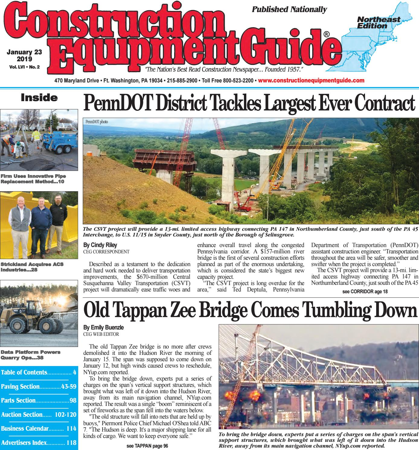 Northeast 2 January 23, 2019 by Construction Equipment Guide