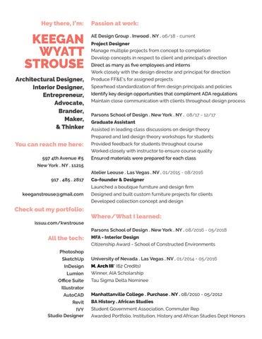 K W Strouse Resume 2019 by K W Strouse - issuu