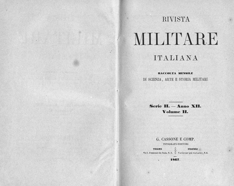 887abeb1e581 RIVISTA MILITARE 1867 TOMO II by Biblioteca Militare - issuu