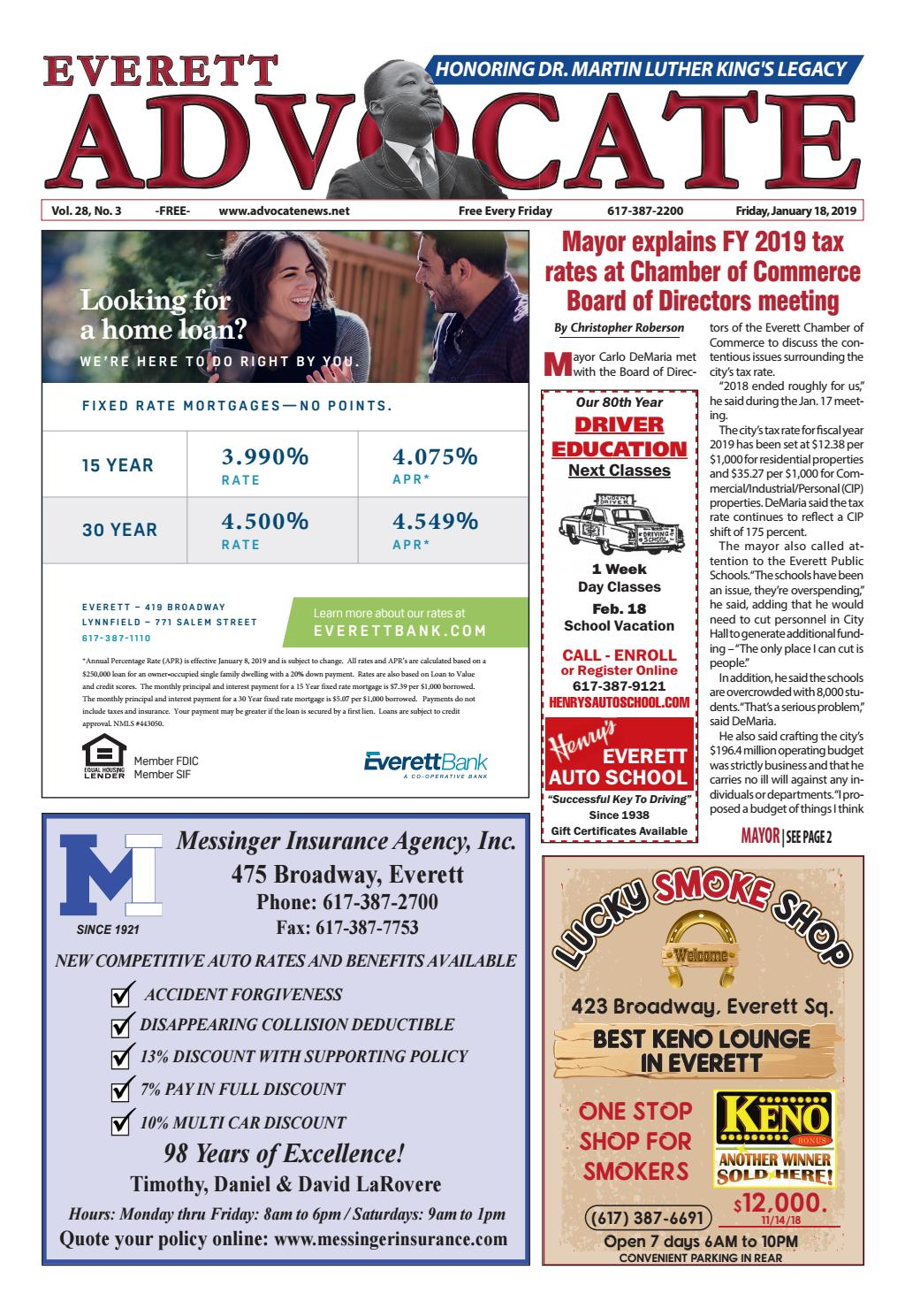 THE EVERETT ADVOCATE - Friday, January 18, 2019 by Mike