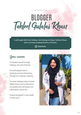 Page 149 of Blogger and Dentist: Tahleel Gulalai Khan