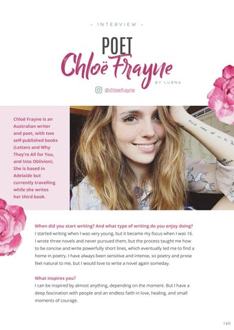 Page 162 of Published Poet: Chloe Frayne