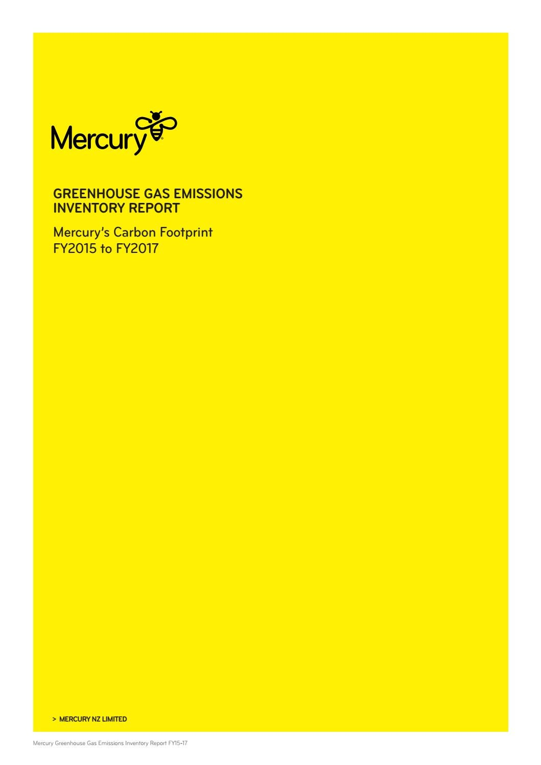 Greenhouse Gas Emissions Inventory Report by Mercury - issuu