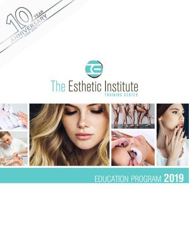 0b9ab8f61f1 The Esthetic Institute 2019 Education Program by The Esthetic ...