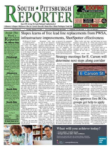 SPR 01-22-19 by South Pittsburgh Reporter - issuu