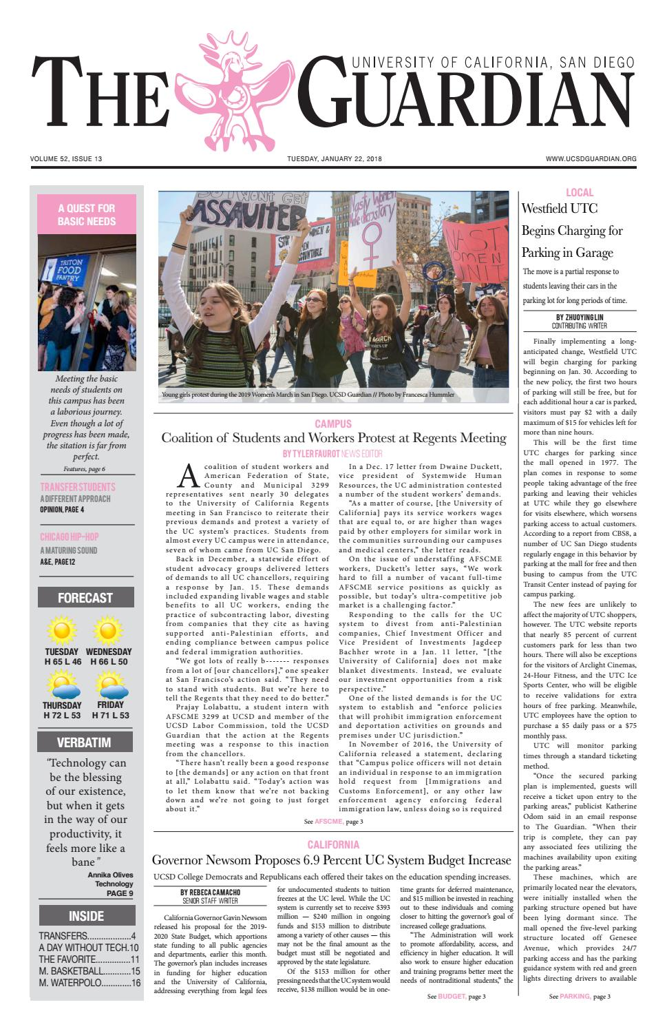 The UCSD Guardian 1/22/19 by UCSD Guardian - issuu