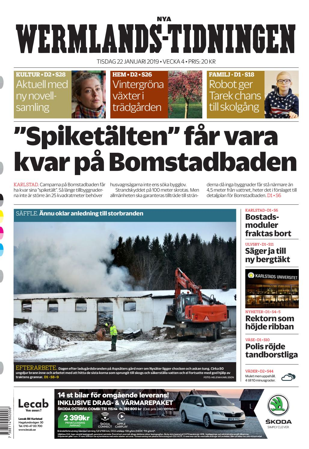 Nya Wermlands-Tidningen 190122 by nwt.se - - issuu b9b25c9282fb2