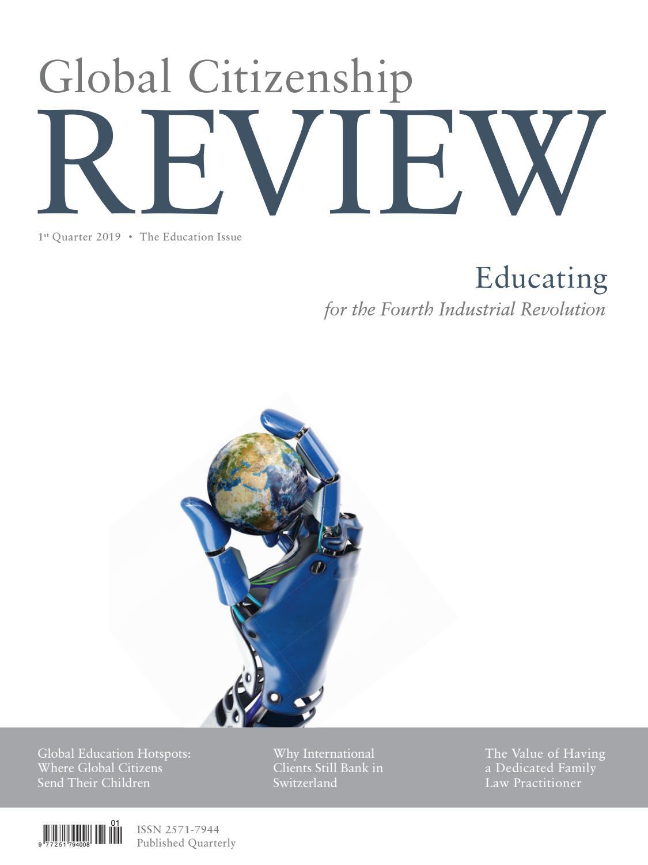 Global Citizenship REVIEW – 1st Quarter 2019 – The Education