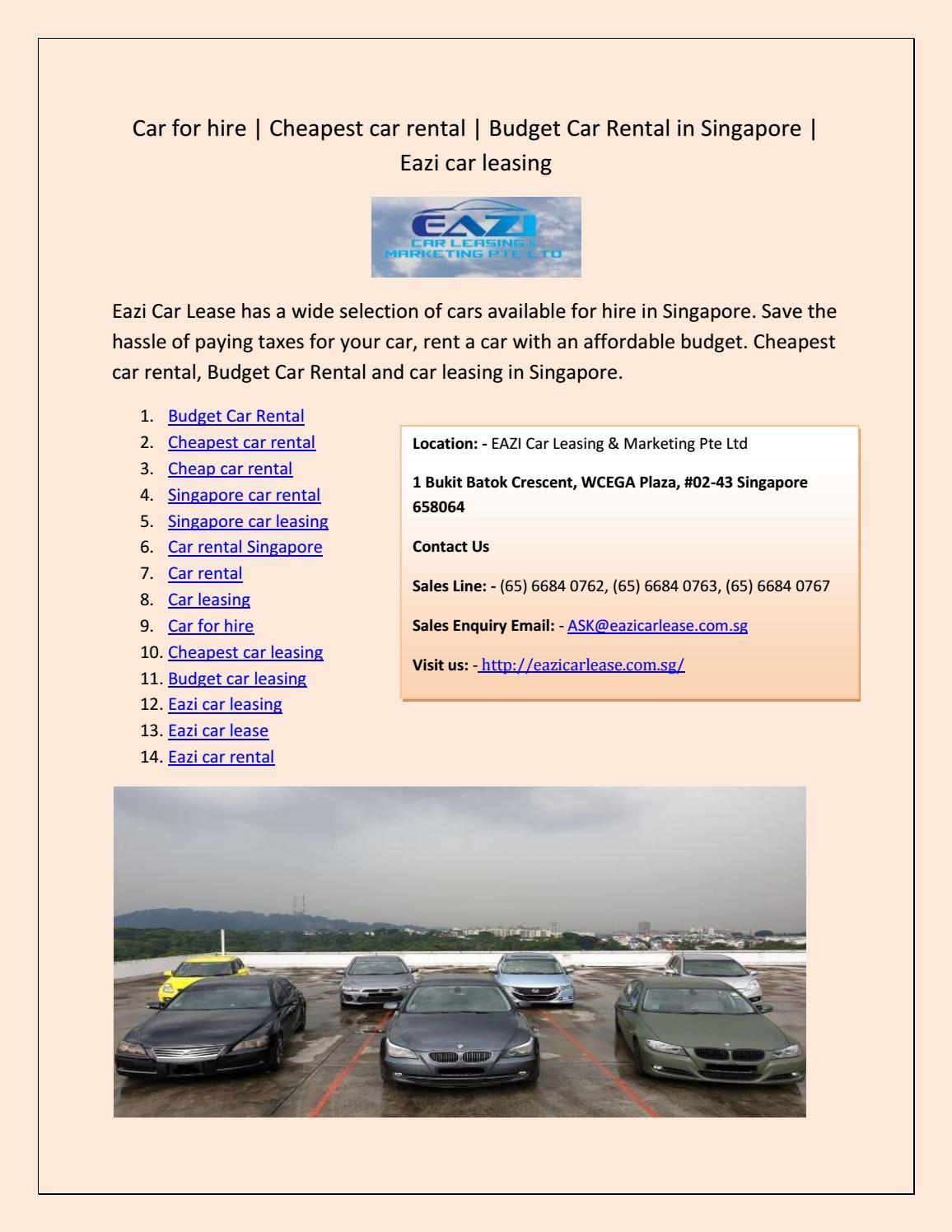 Cheapest Cars To Lease >> Eazi Car Lease By Morsan Terry Issuu