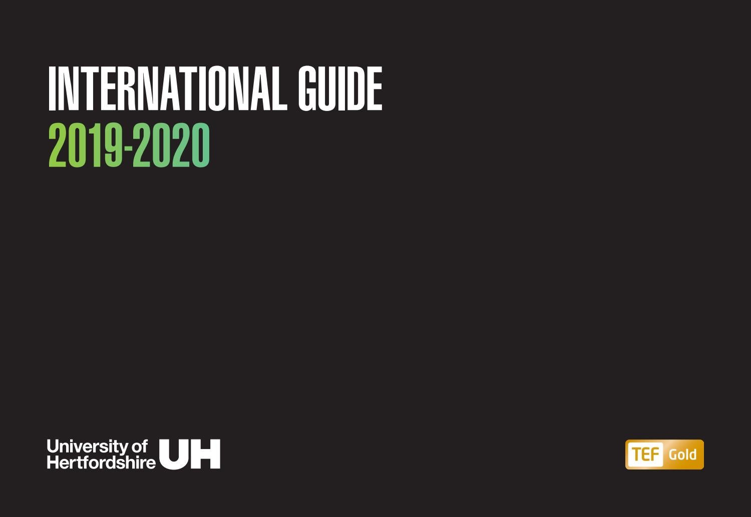 bc89b95dced7 International Guide 2019/2020 by University of Hertfordshire - issuu