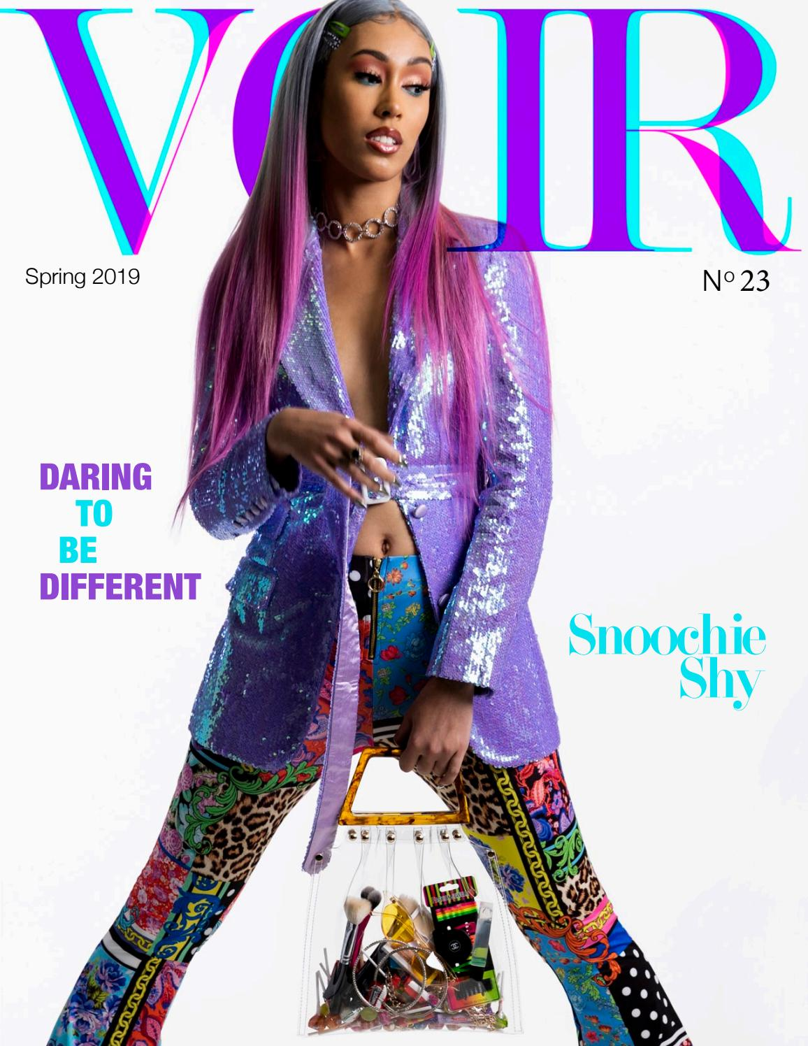 Voir Fashion Issue 23 : Daring To Be Different ft Snoochie Shy by