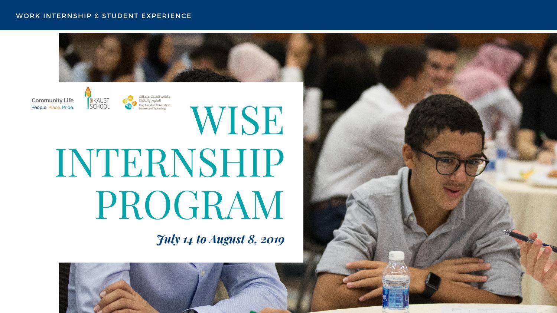 2019 Wise Internship Program By The KAUST School